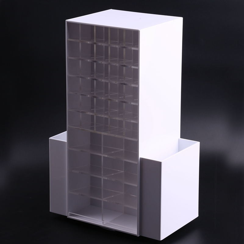 White Acrylic Rotating Lipstick Display Stand